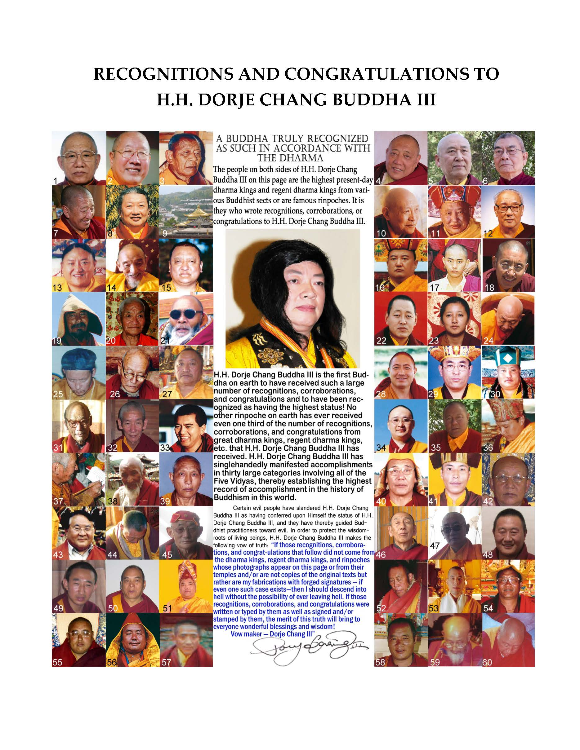 Recognition letters from Buddhist leaders